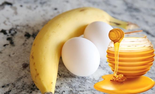 egg, honey, banana face mask